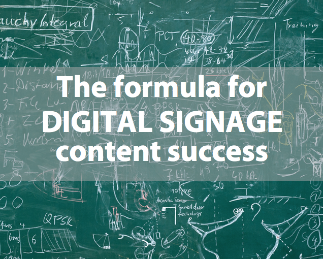The magic formula for internal digital signage content